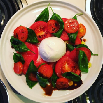 Tomatoes and burrata